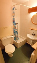 Bathroom (shower, sink, WC)
